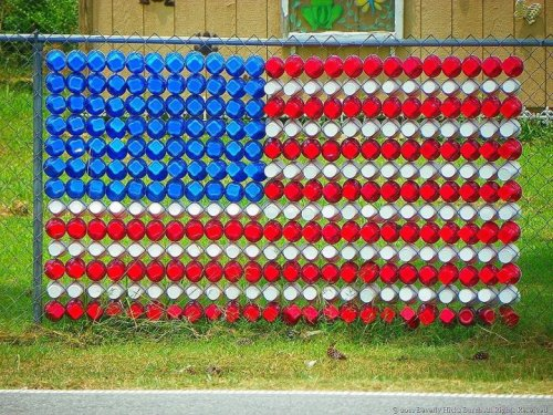 Made of Solo Cups. Because this is Amurica.